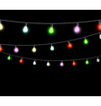 festive garlands of colored lights vector image