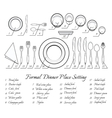 Formal table setting vector image