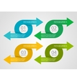Infographic options design vector image