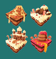 isometric sweet islands vector image