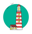 lighthouse on the sea vector image