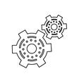 pictogram two gear wheel engine cog icon vector image
