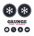 snowflake sign icon air conditioning symbol vector image