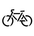 stencil bike symbol vector image