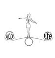 woman balance of life vector image