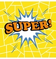 Super comic cartoon vector image