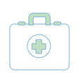 silhouette first aid kit emergency vector image