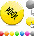 DNA glossy button vector image