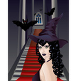 Gothic Stairs and Witch2 vector image