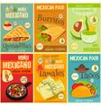 Mexican Food Menu Mini Posters vector image