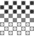 Checkers vector image vector image