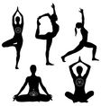 Yoga poses icon set vector image