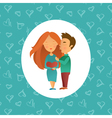 Couple in love 05 vector image