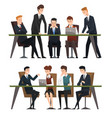 group business people working in office men vector image
