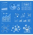 Infographic elements on blue vector image