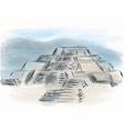 teotihuacan vector image
