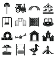 Playground icons set simple style vector image