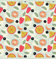 fruit lemonade with pitchers seamless pattern vector image vector image