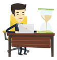 asian business man working in office vector image