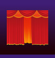 curtains - realistic red drapes vector image