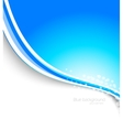 Abstract blue brochure vector image vector image