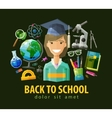 school education icons set collection of vector image