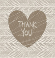 thank you hand draw card vector image