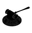 black judge hammer vector image
