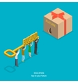 Education flat isometric concept vector image