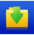 Folder download vector image