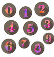numbers icons set vector image