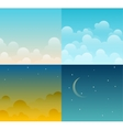 Set of sky vector image