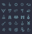 spain outlined icon set vector image