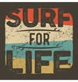 Vintage t-shirt apparel graphic design for surfing vector image