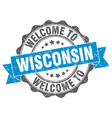wisconsin round ribbon seal vector image