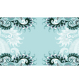 frame blue paisley style vector image vector image