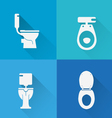 Wc Toilet icons vector image