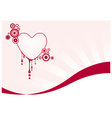 Pink graphic heart vector image