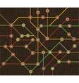 subway map vector image vector image