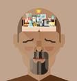 human brain memory vector image