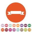 The banner icon Ribbon symbol Flat vector image