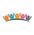 People logo group of five persons vector image