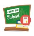 Flat of Back to School design vector image