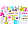 abstract design elements memphis vector image