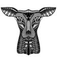 baby deer head vector image