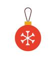 christmas ball decoration celebration event vector image