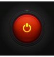Glossy round On Off button vector image