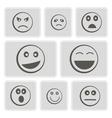 monochrome icons smiles-balls vector image