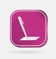 pen writing on a sheet Color square icon vector image