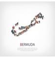 people map country Bermuda vector image